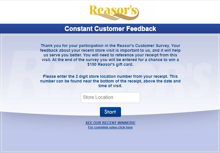 Reasors Survey
