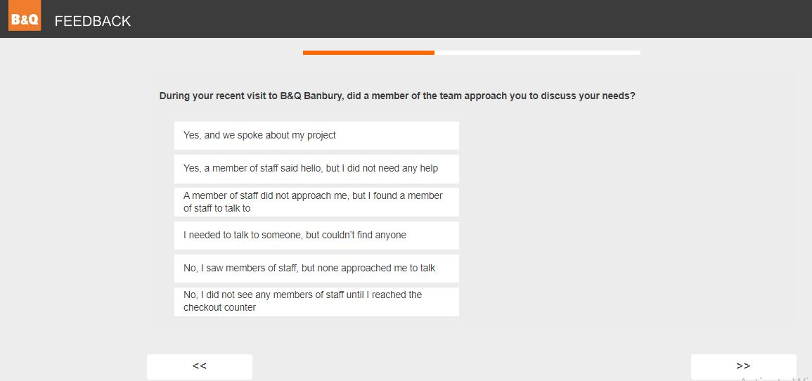 B and q feedback survey