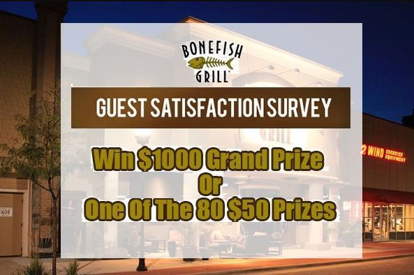 Bonefish Grill survey prize