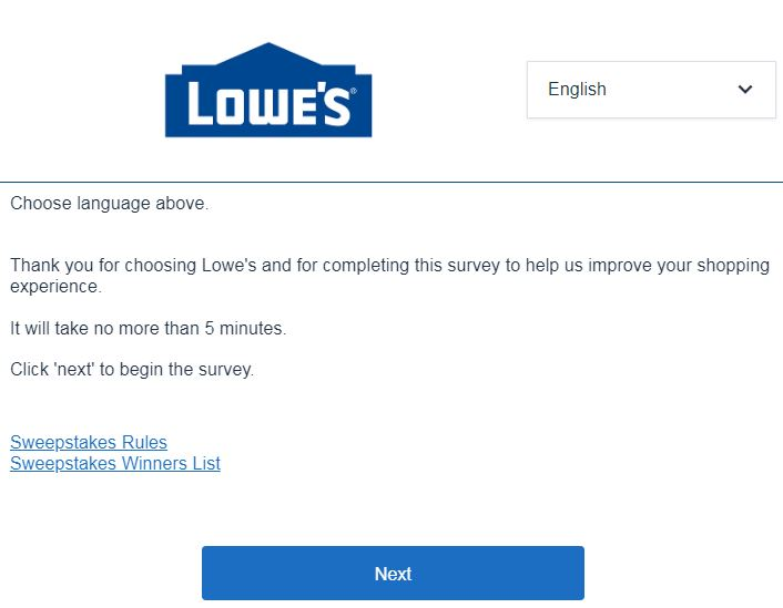 lowesurvey