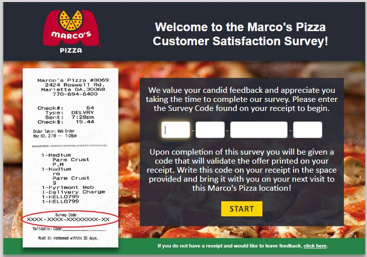 Marcos Pizza Survey