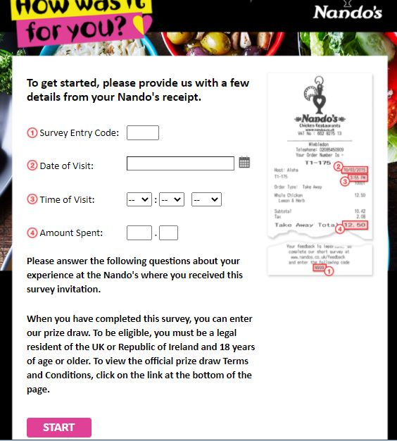 Nando's Survey