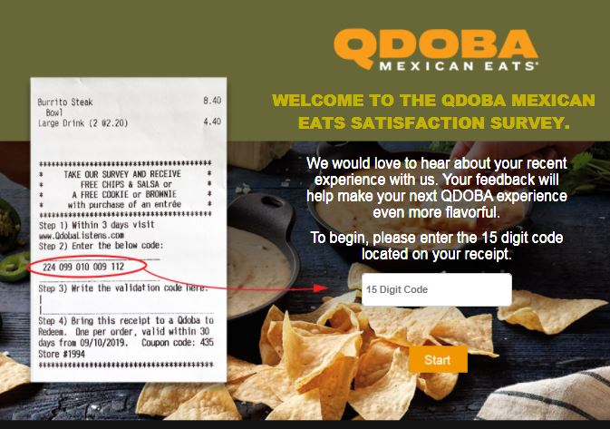 Qdoba Mexican Grill Guest Experience Survey