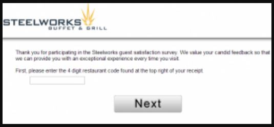 Steelworks Buffet & Grill Guest Satisfaction Survey