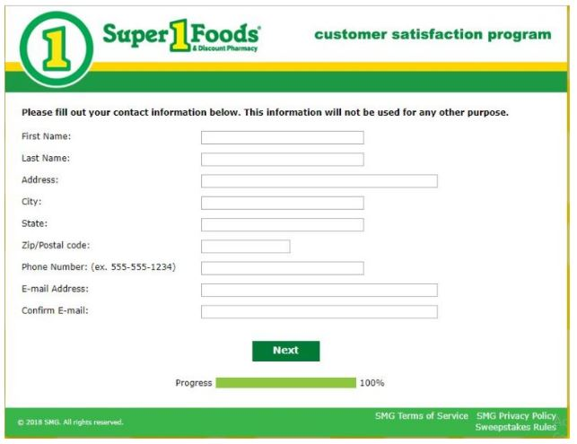 Super One Foods Survey