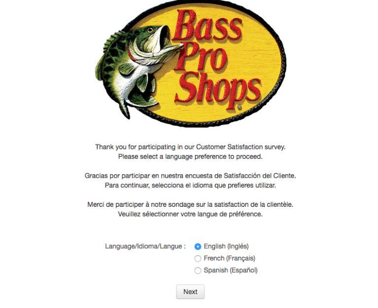 bass pro survey feedback