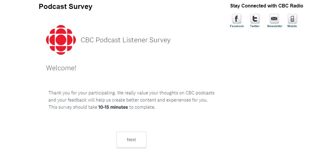 Podcast Customer Experience Survey