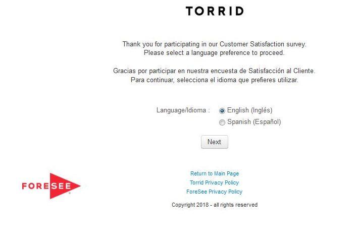 www.Torrid.com/survey