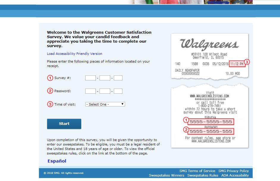 walgreens survey