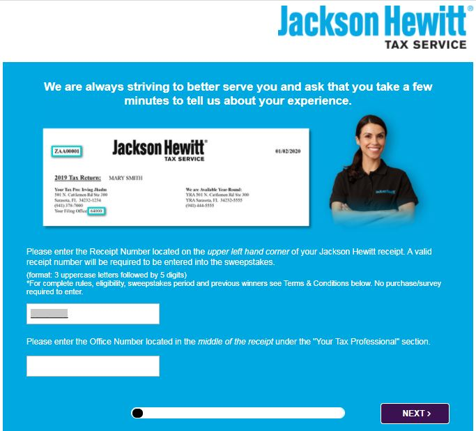 Jackson Hewitt Opinion Survey