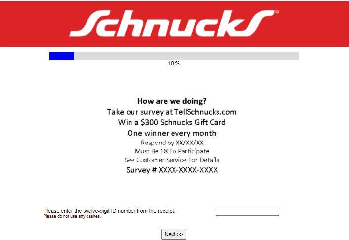 Schnucks Experience Survey