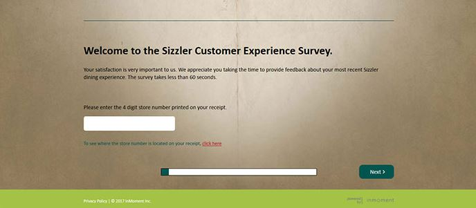 www.Sizzlersurvey.com