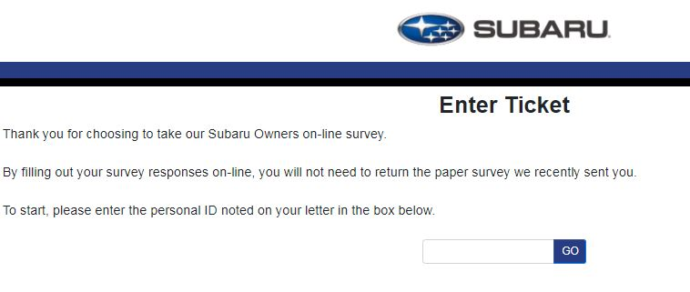 Subaru Owners Survey