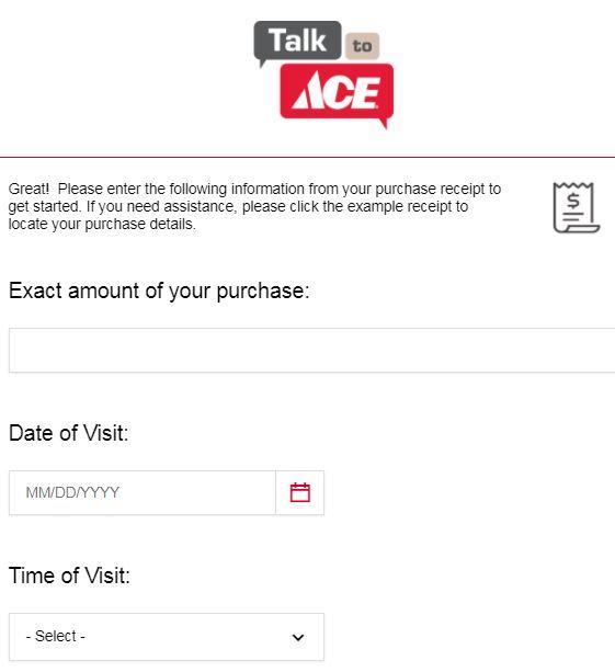 Ace Hardware Online Survey