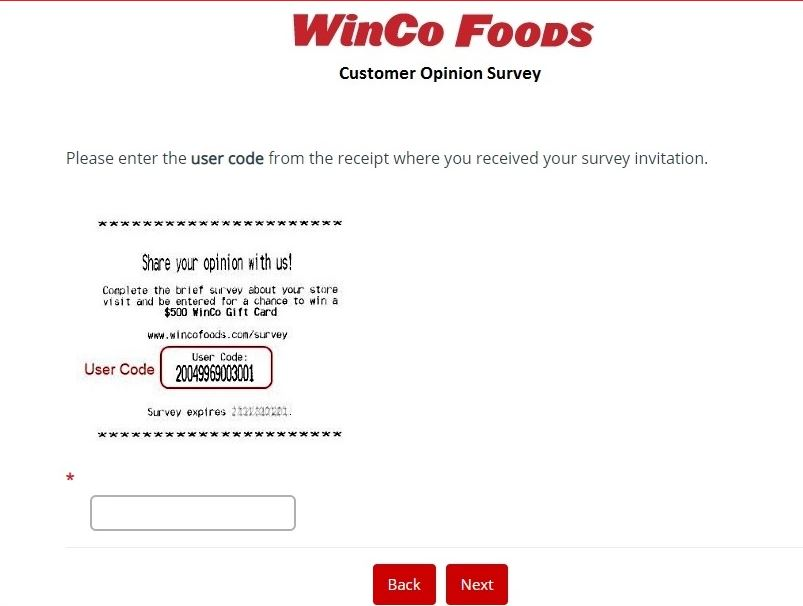 WinCo Foods Customer Feedback Survey