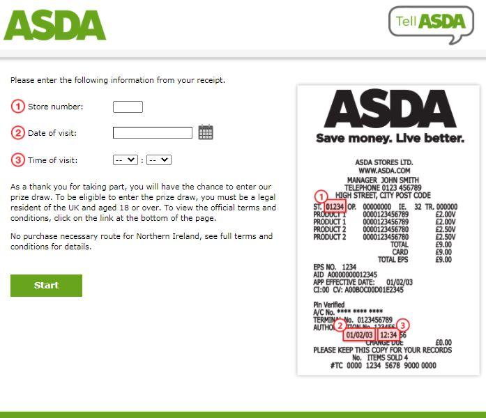 ASDA Guest Opinion Survey