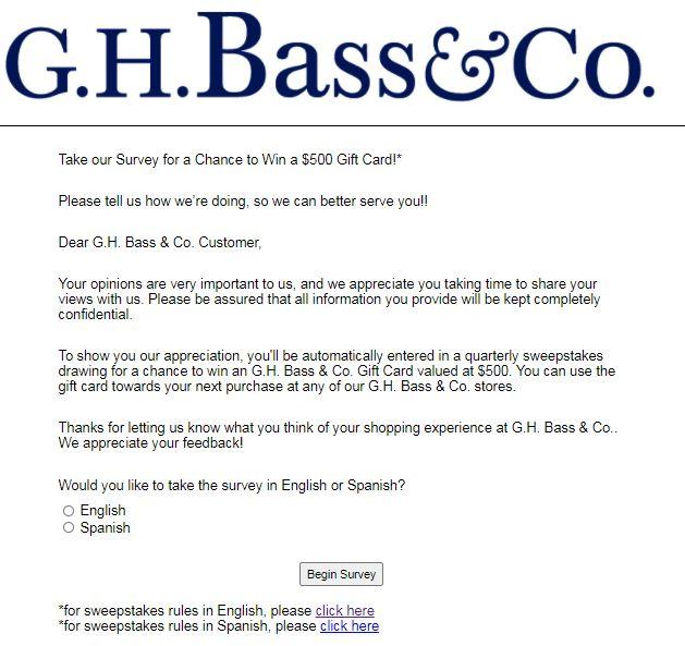 G.H. Bass Survey