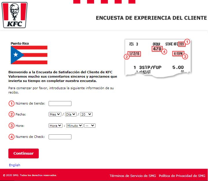 KFC Puerto Rico Survey