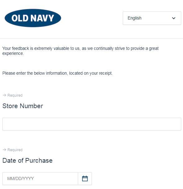 Survey.medallia.com/oldnavy-feedback