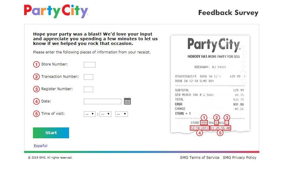 www.partycityfeedback.com