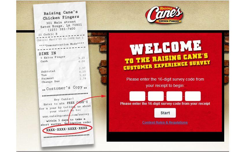 Raising Cane's Online Survey