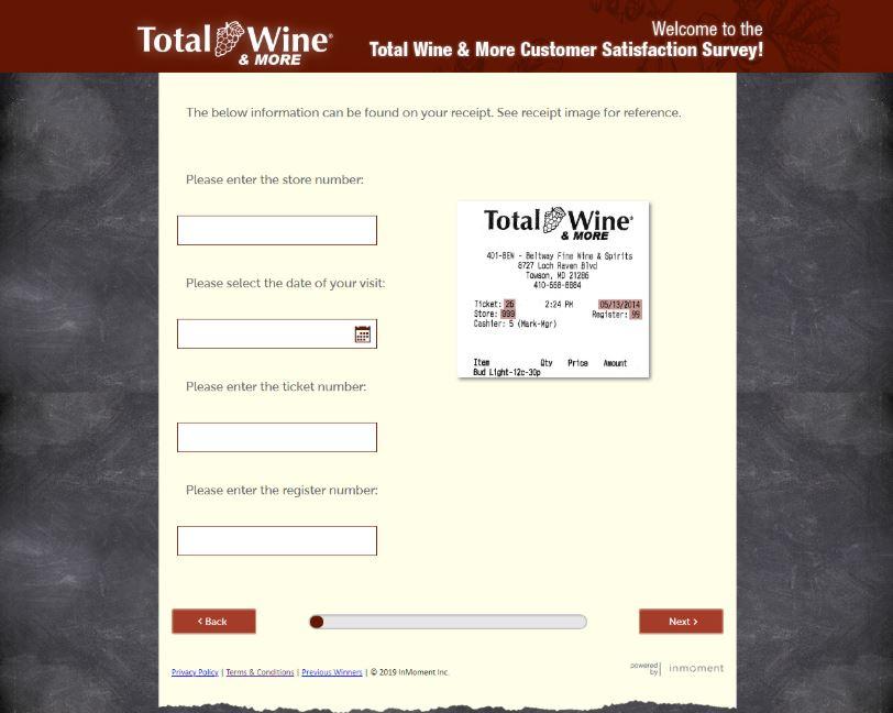 Total Wine & More Online Survey