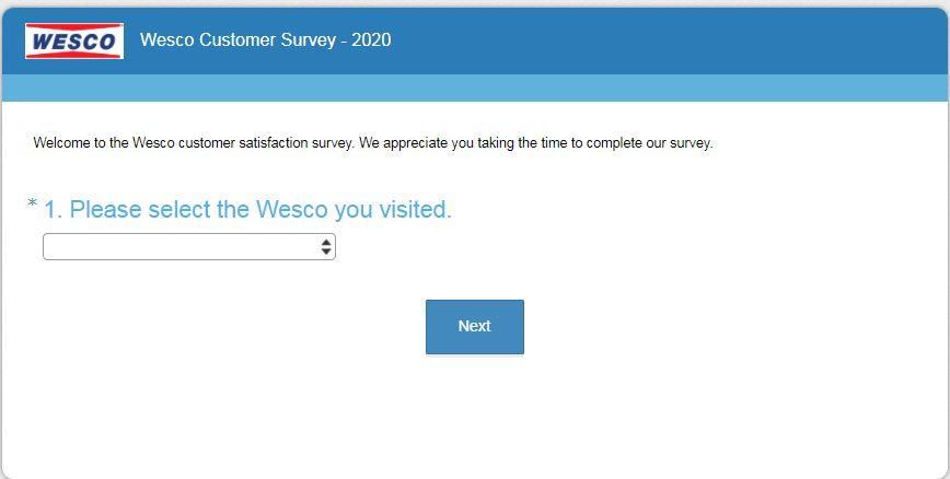 Wesco Customer Satisfaction Survey