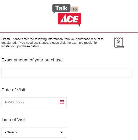 Westlake Ace Hardware Receipt Survey