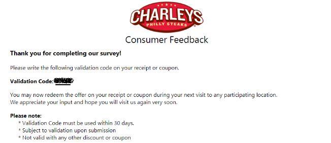 Charleys Survey step 8