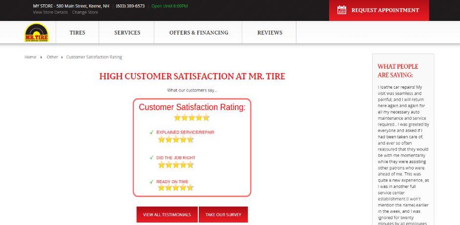 Mr Tire Survey