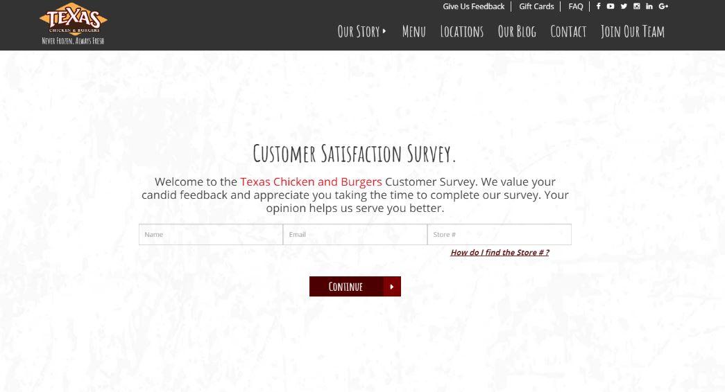 www.texaschickenandburgers.com/survey