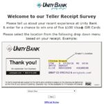 Unity Bank Survey – Win a $100 Visa Gift Card