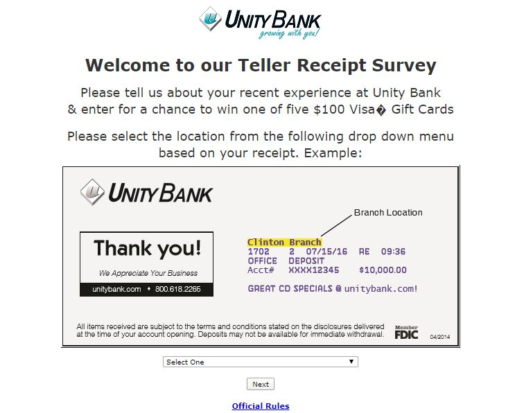 Unity Bank Survey