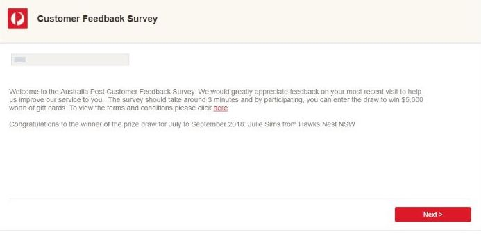 Australia Post Survey