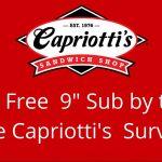 Capriotti's Survey At TellCapriottis.com