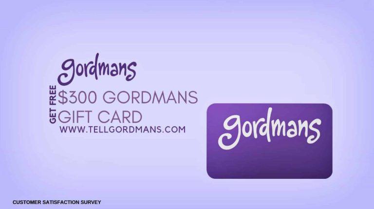 Gordmans Survey