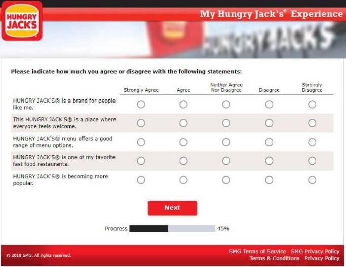 Hungry Jack's Survey