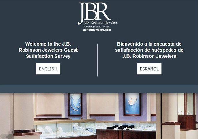 JB Robinson Jewelers Survey
