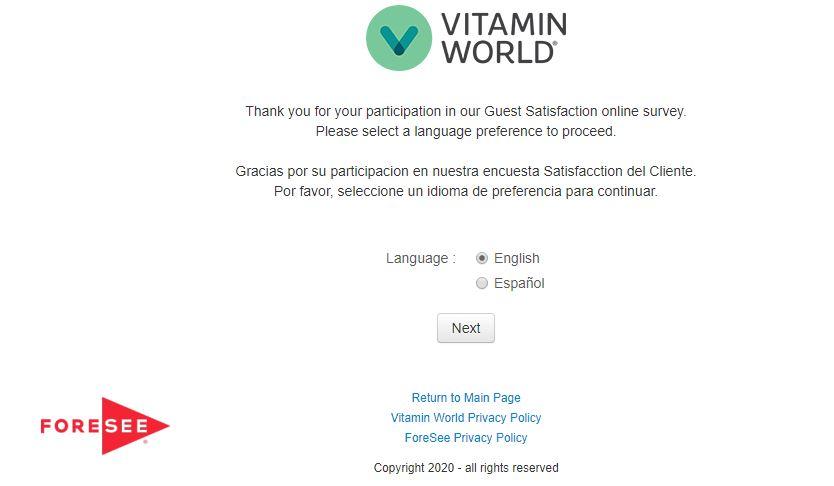 Vitamin World Survey