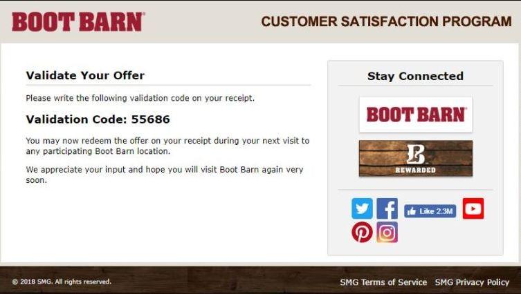boot barn survey