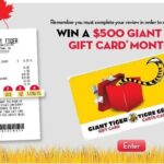 Giant Tiger Survey at www.GiantTiger.com/Survey Sweepstakes 2019