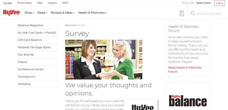 hyvee survey