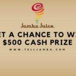 Telljamba – Win $500 in Jamba Juice Survey Feedback