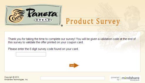panera bread survey