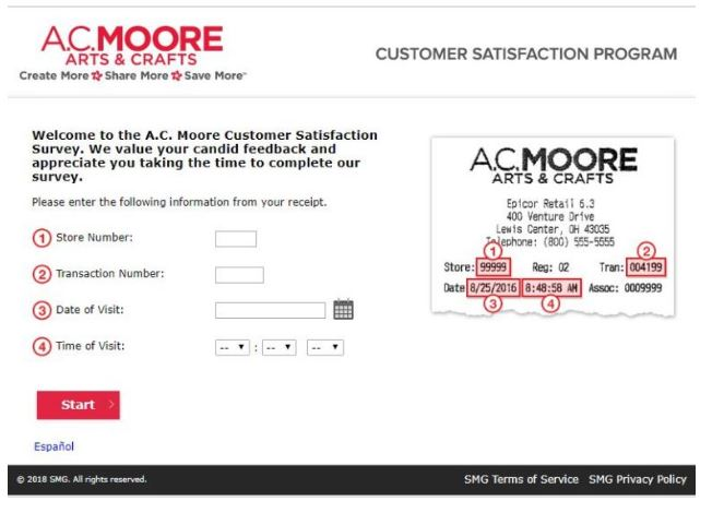 AC Moore Survey