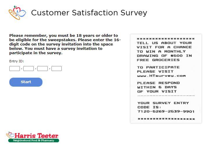Harris Teeter Online Survey