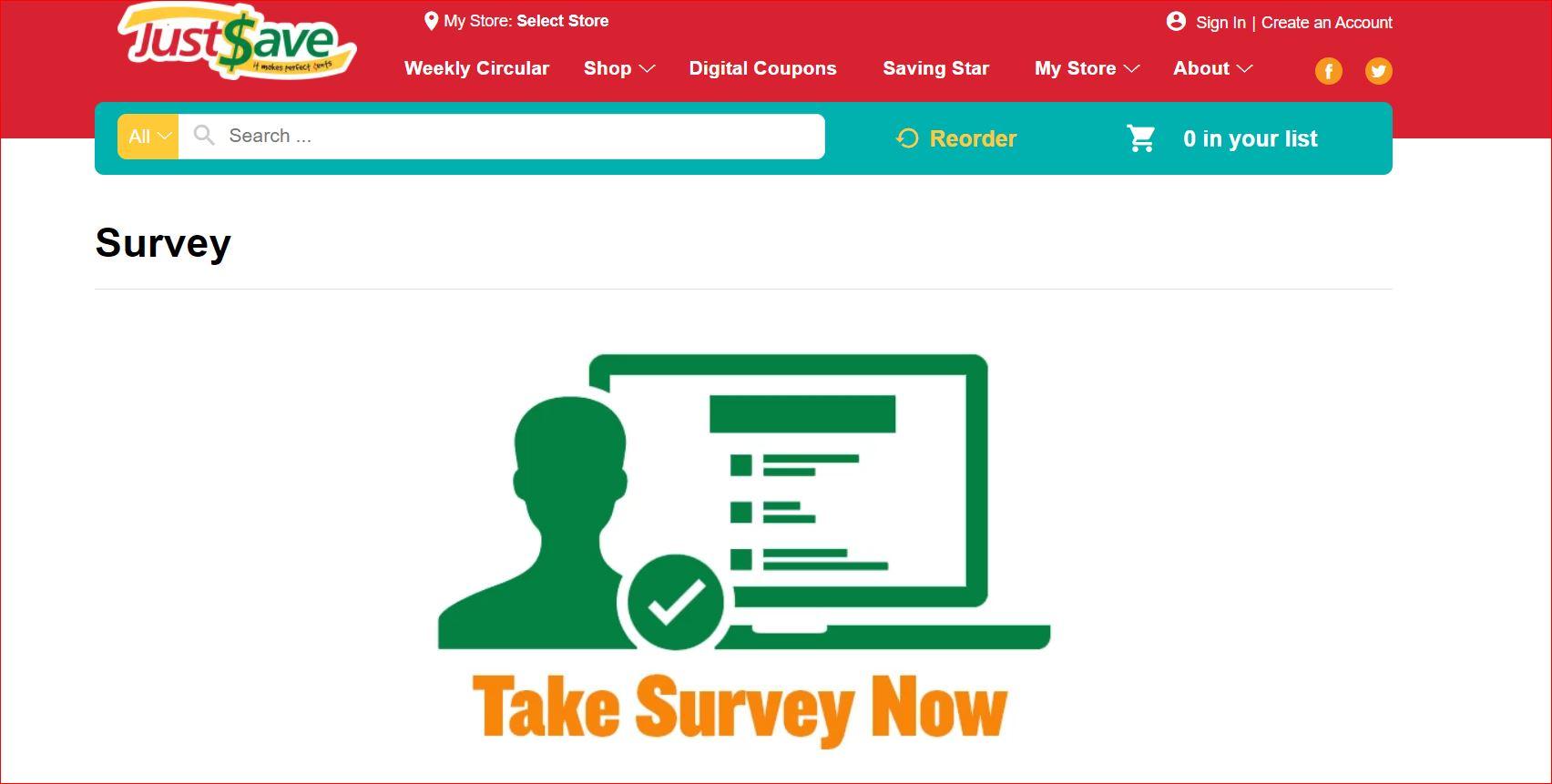 www.justsavefoods.com/survey