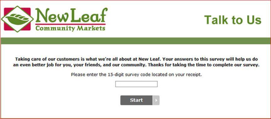 New Leaf Community Market Experience Survey