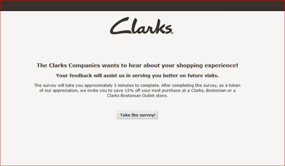 www.Clarkscustomersurvey.com
