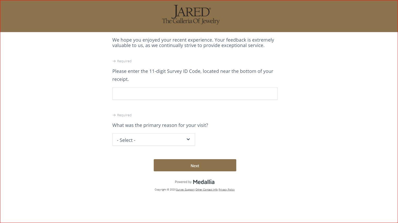 Survey.Jared.com